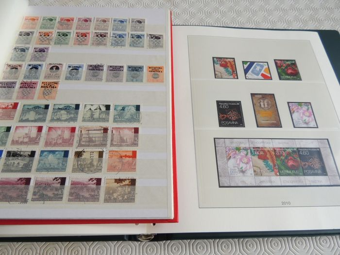 Croatia - Collection in a binder and folder