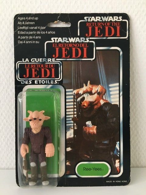 Star Wars - Return of the Jedi - Palitoy - Clipper Benelux - Pupazzetto - vintage - 1983 - Ree-Yees Tri Logo