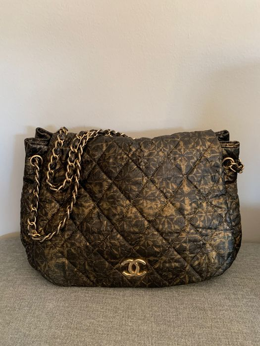 Chanel - Accordion Flap Quilted Printed Nylon Bandolera