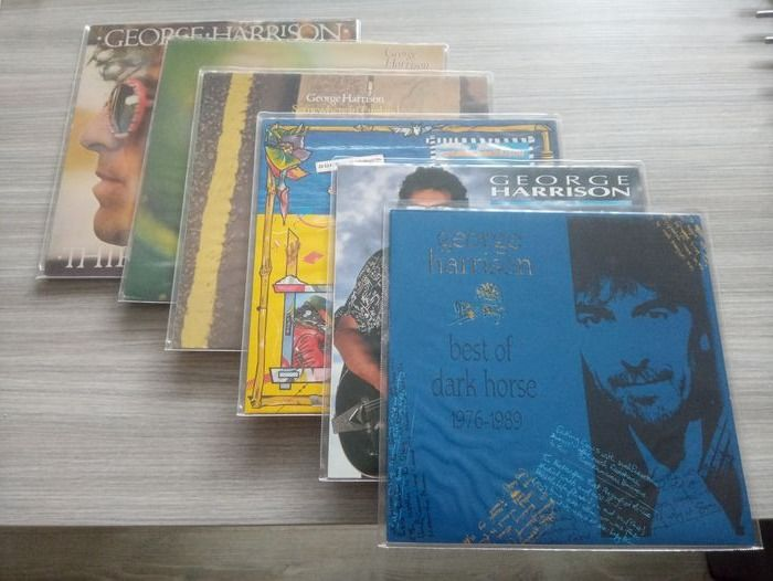 George Harrison - Thirty Three & 1/3 / George Harrison / Somewhere in England and 3 other LP's - Multiple titles - LP's - 1976/1989