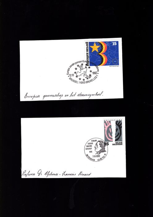 Belgium 1962/2000 - A wonderful batch with First Day Cancellations, covers and FDCs - OBP / COB