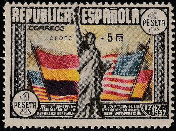 Spanje 1938/1938 - 150th Anniversary of the USA Constitution, Airmail - Edifil 765