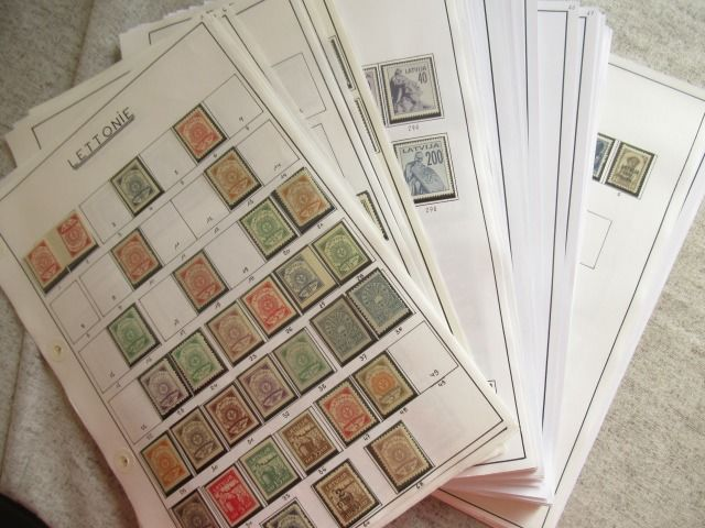 Lettland 1918/2011 - Very significant collection of stamps.