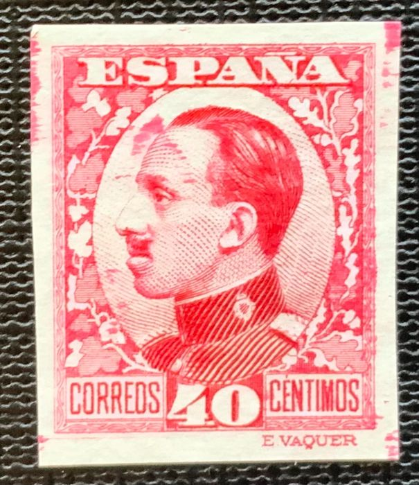 Spanje 1930/1931 - Alfonso XIII colour error 40 cts, imperforated, Graus report - Edifil 497scc