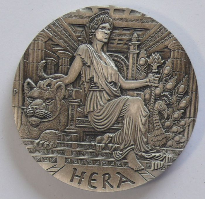 Tuvalu. 2 Dollars 2015 - Goddesses of Olympus HERA, High Relief - 2 Oz