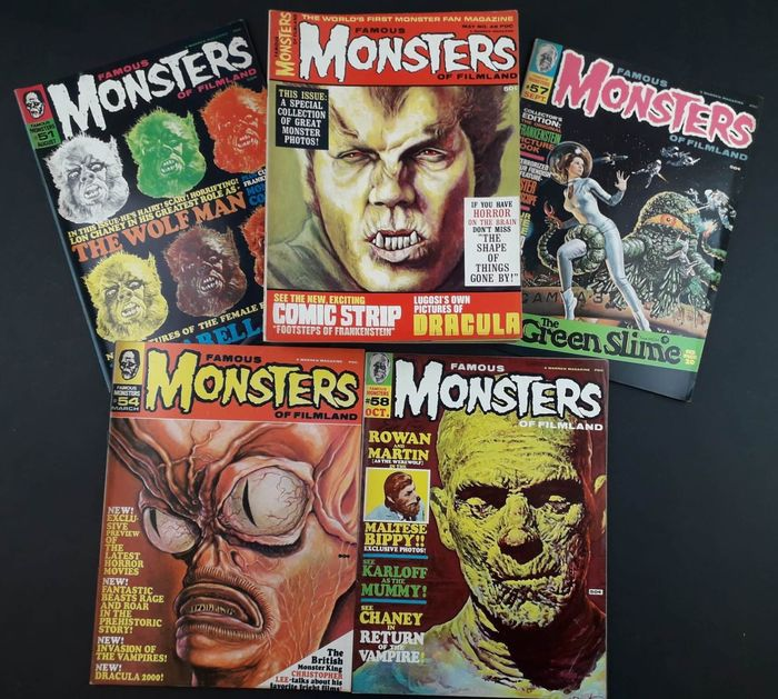 Famous Monsters of Filmland nn. 49/55, 57/64, 66 - 15x riviste cinema - Spillato - Prima edizione - (1968)