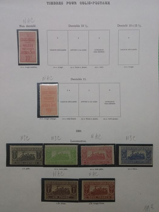 Frankrijk 1892/1960 - Over €4300 according to - Yvert collection timbres pour colis postaux
