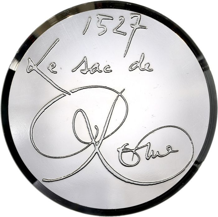 "France. Médaille en bronze nickelé ""L'avènement de l'Art Baroque"" par Mathieu (84.12mm, 252.04g)"