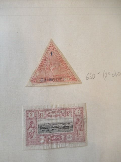 Voormalige Franse koloniën - Collection of stamps including Djibouti