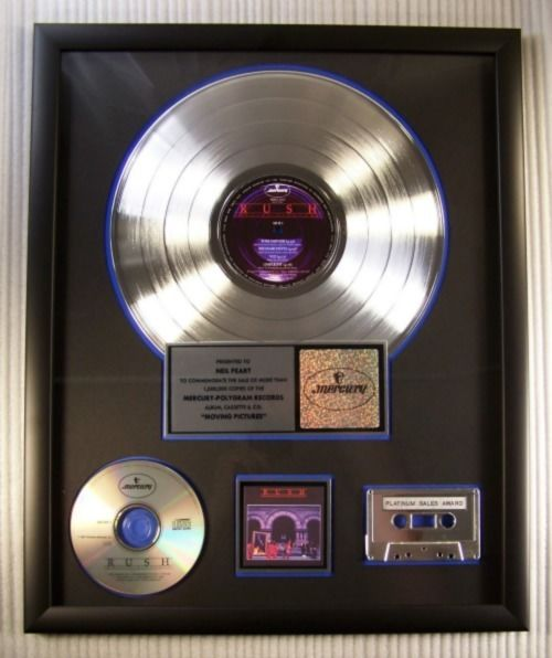 "Rush - ""Moving Pictures"" LP, Cassette & CD Platinum Record Award - Offizieller hauseigener Award - 1995/1995"