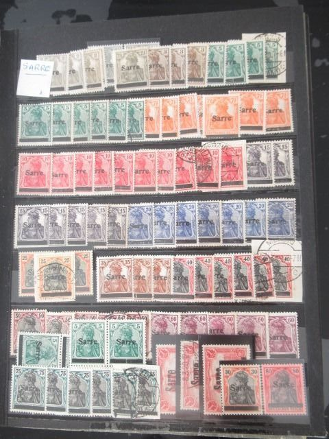 Sarre und Mémel - Significant collection of stamps