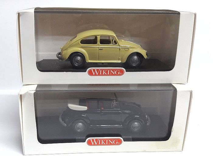 Wiking - 1:40 - Volkswagen Beetle Sedan + VW Beetle Cabriolet