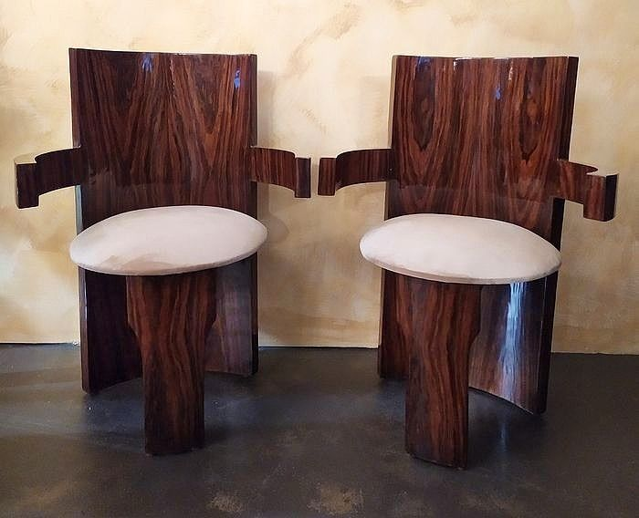Pair of armchairs - Art Deco - Catawiki