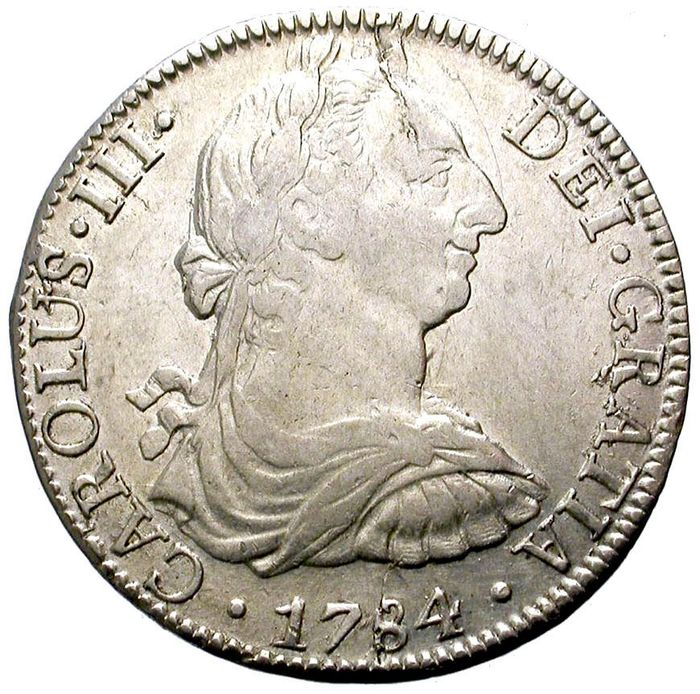 Espagne. Charles III. 8 Reales 1784 / MEXICO