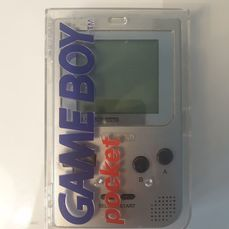 Nintendo Limited Edition MGB-01 1995 Rare Platinum Silver Edition Rare Hard Box Still with Nintendo Blue Book - Gameboy Pocket Limited Edition Platinum Silver Version matching serial# - In original box