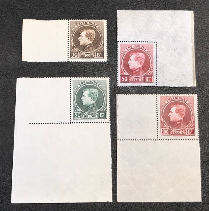 Belgium 1929 - Large Montenez MNH with sheet edges - OBP / COB 289-292