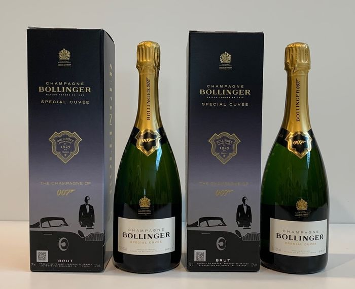 """Bollinger Special Cuvee - Limited Edition """"James Bond 007"""" - Champagne - 2 Flaschen (0,75 l)"""