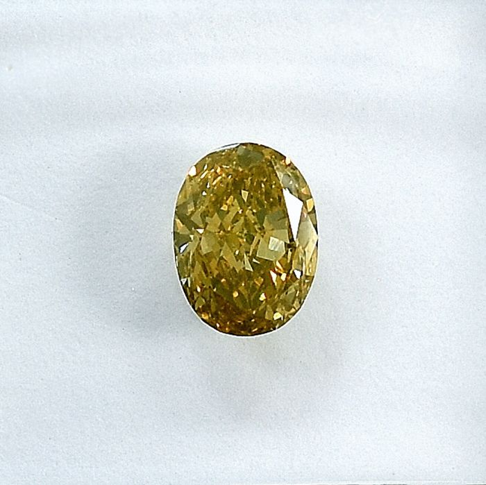 Diamant - 0.56 ct - Oval - Natural Fancy Brownish Yellow - Si1 - NO RESERVE PRICE