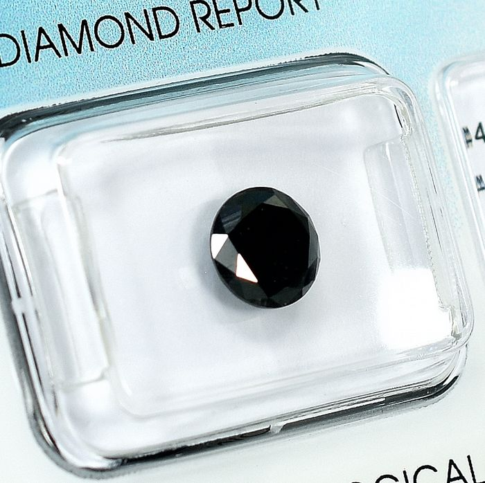 Diamante - 1.29 ct - Brillante - Black - NO RESERVE PRICE