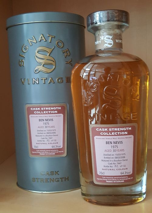 Ben Nevis 1975 30 years old - Signatory Vintage - 70cl