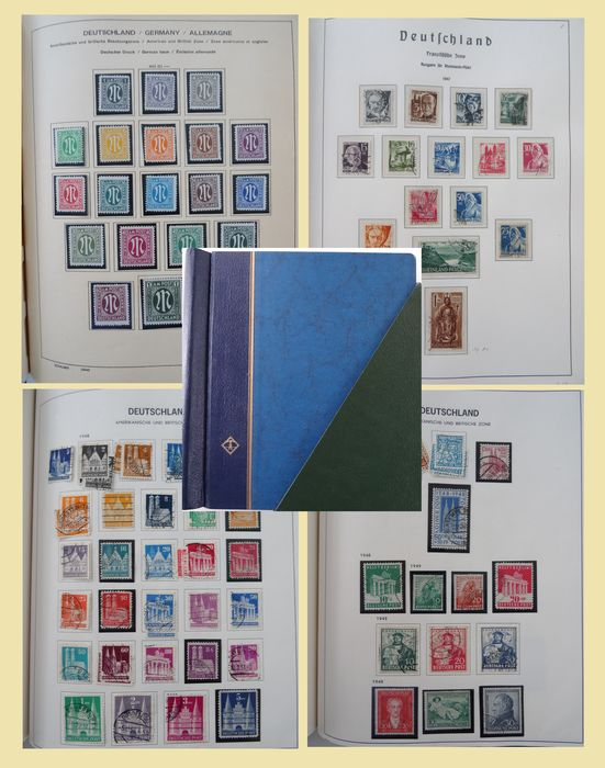 Allied Occupation - Germany - Album with multiple collections on sheets - messy whole -