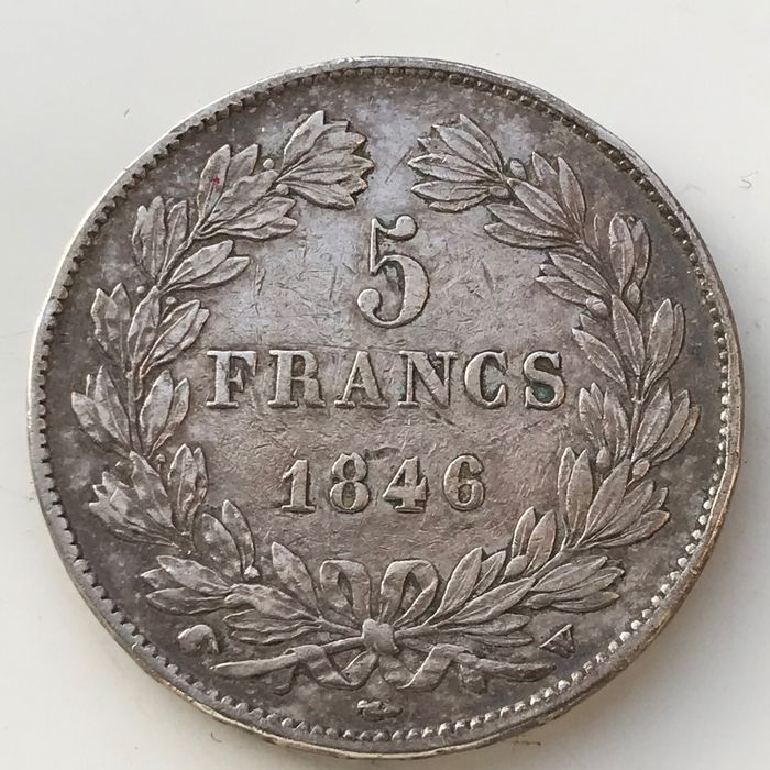 France. Louis Philippe I (1830-1848). 5 Francs 1846-W, Lille