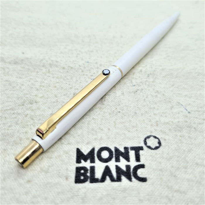Montblanc - Stylo bille Noblesse - Blanc / or