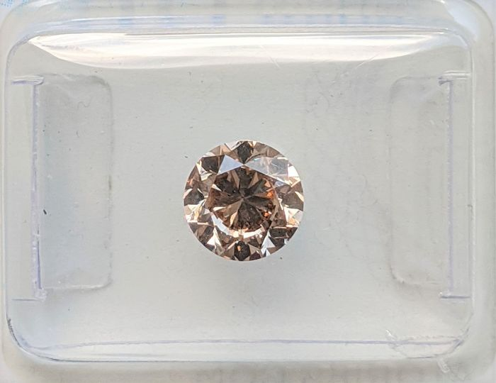 Diamant - 1.01 ct - Brillant - Marron rosâtre fantaisie - SI1, No Reserve Price