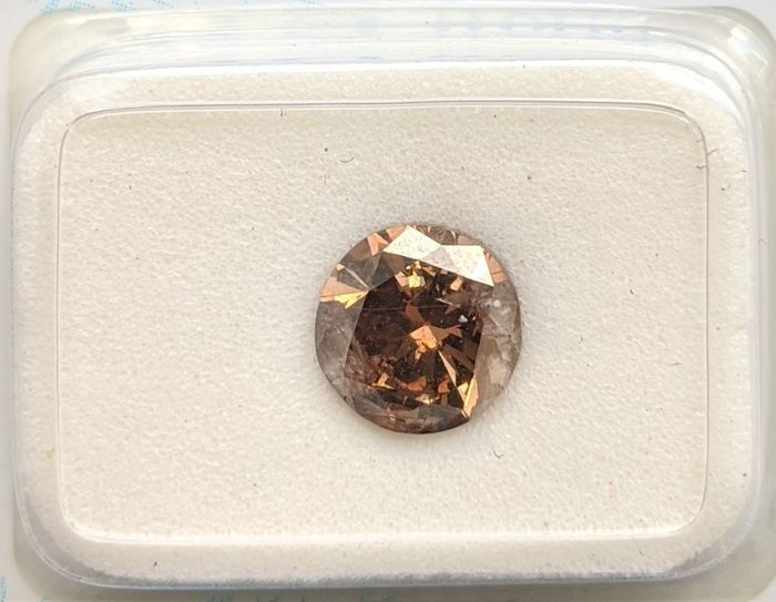 Diamant - 1.50 ct - Brillant - Marron orange fantaisie - I2, No Reserve Price