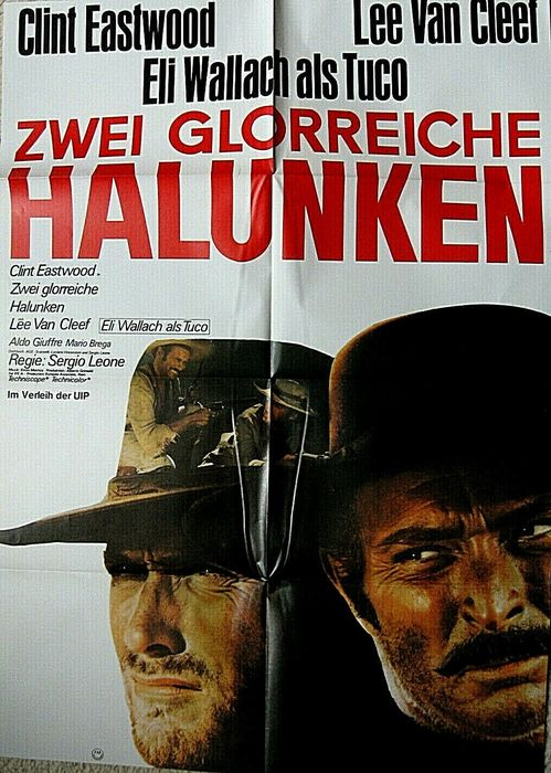 The Good, the Bad and the Ugly (1966) - Sergio Leone, Clint Eastwood - Póster, German Cinema re-release - 84x59 cm