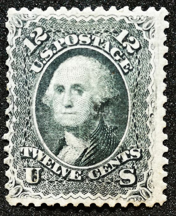 Verenigde Staten 1861 - 12 Cts WASHINGTON  Noir  MNH - Scott 69