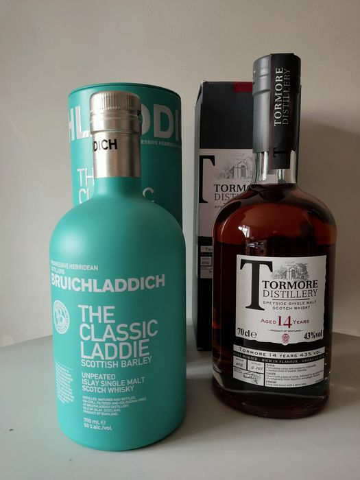 Bruichladdich The Classic Laddie - Tormore 14 years old - Original bottling - 700ml - 2 bottiglie
