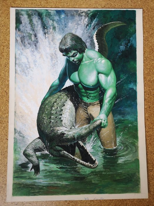Lawrence, Don - The Hulk - Original Artwork for Special Anniversary Poster - The Hulk - large format in color - (1980)