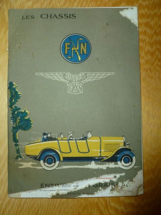 Brochures / Catalogi - 36 page FN Chassis Sport catalog / manual - FN Fabrique National DÁrmes de Guerre Herstal