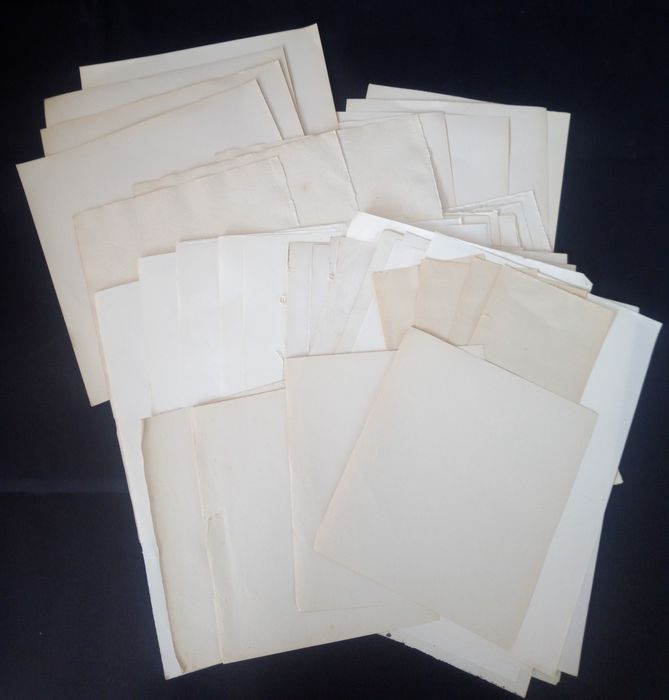 45 blank sheets with watermarks - XVIII / XIX century