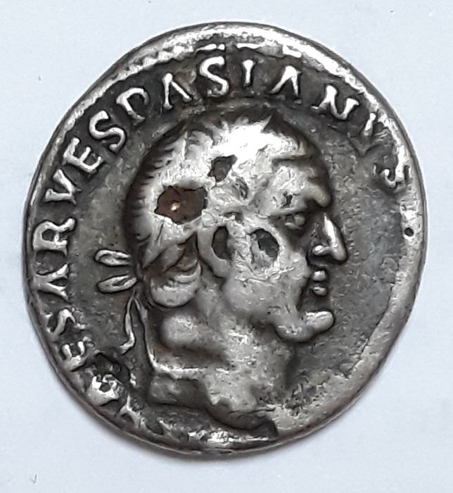 Roman Empire. Vespasian (AD 69-79). AR Denarius,  Rome - Titus and domitian