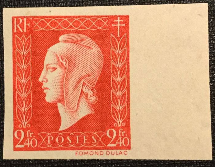France 1945 - Marianne Dulac 2.40 francs red, unissued - Yvert 693a