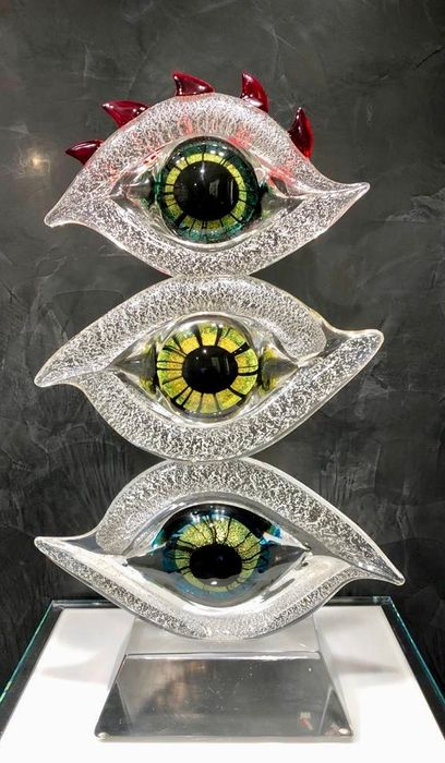 Cristiano Toso - Murano - Sculpture, (70 cm) - All Seeing Eye Totem