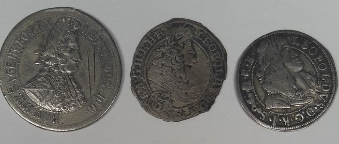 Austria, House of Habsburg. Leopoldus I von Habsburg. 3 Coins of 17th century