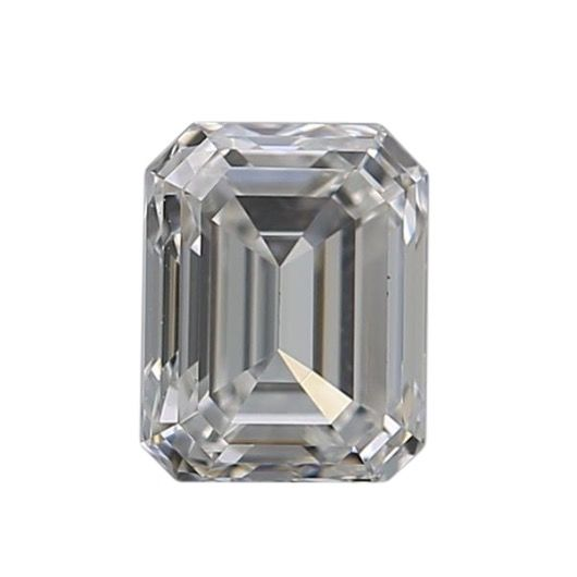 1 pcs Diamante - 0.43 ct - Esmeralda - F - VVS1