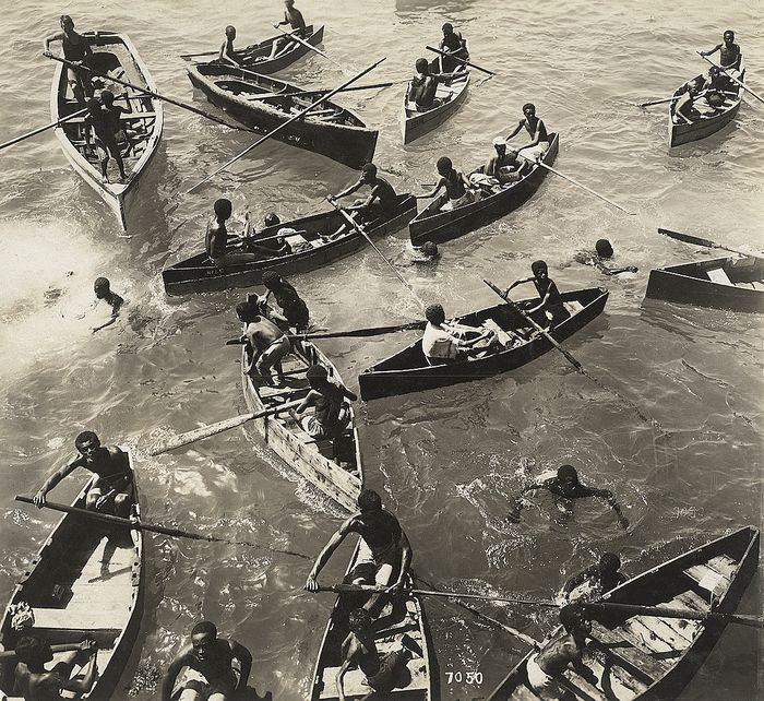 Unknown/Publisher's Photo Service - Rowboats, Kingston Harbor, Jamaica, 1921