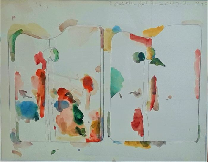 Jim Dine (1935) - Two Palettes for S. Xmas