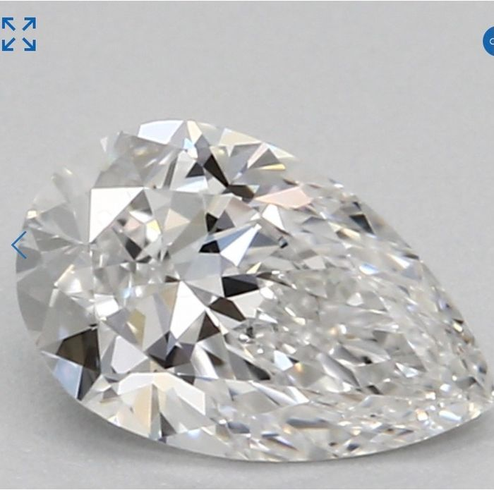 1 pcs Diamante - 0.31 ct - Pera - E - IF (Inmaculado)
