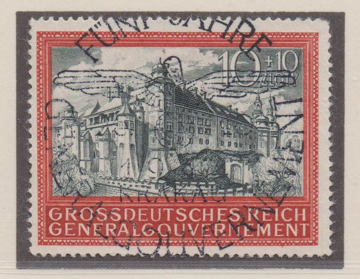 """Duitse bezetting WO II 1939/1944 - """"Generalgouvernement"""" (German-administered part of Poland during WW II), Alsace, Lorraine, Luxembourg, Ostland, Ukraine - complete"""