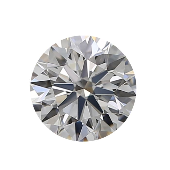 1 pcs Diamant - 0.81 ct - Rond - D (incolore) - IF (pas d'inclusions)