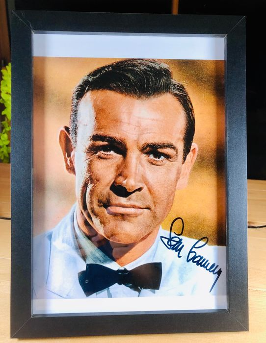 James Bond 007: Goldfinger - Sean Connery (+) as 007 - Foto, Handtekening, Signed, framed with Coa