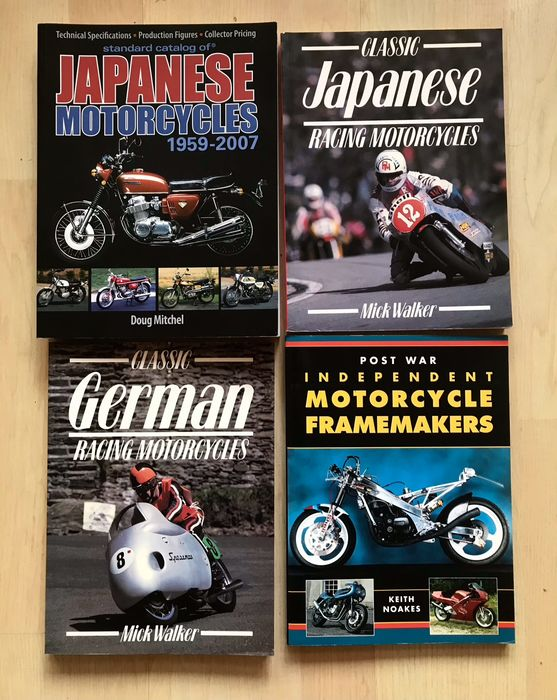 Libros - Classic Japanese and German (Racing) motorcycles, in English. - 1990-2000