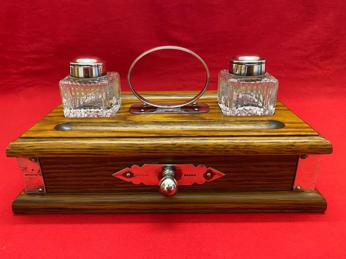 Image 2 of Inkstand - .800 silver - England - Second half 20th century