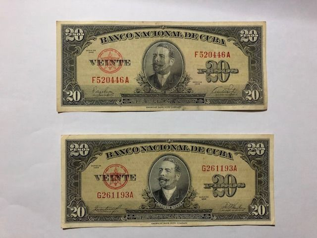 World - 100 banknotes (Included 30 from Spain & 30 from Cuba) - Various dates - including duplicates