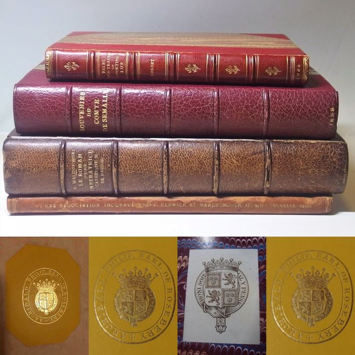 Ex-UK Prime Minister -Archibald Primrose, 5th Earl of Rosebery (1894-1895) owned - Books Collection with Hand writing of Britain Victorian Era Prime Minister -Archibald Primrose - 1864/1898